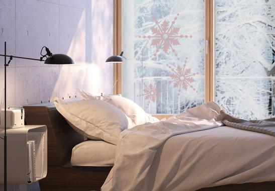 Glasdekor Drei Schneeflocken - Bild 4