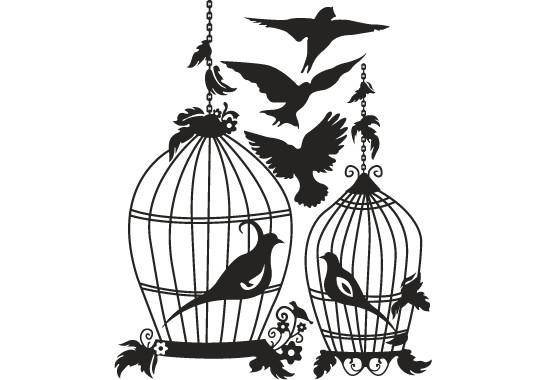 Glasdekor Vogel Voliere - Bild 6