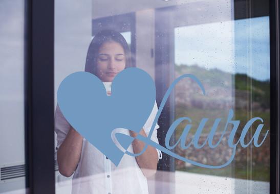 Glasdekor Wunschtext Initiale L