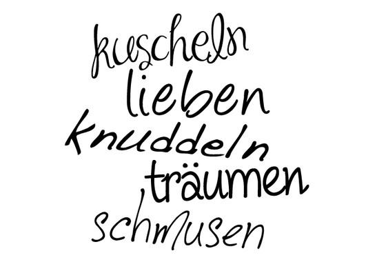 schwarz/weiss Ansicht - Wandtattoo Kuscheln&more