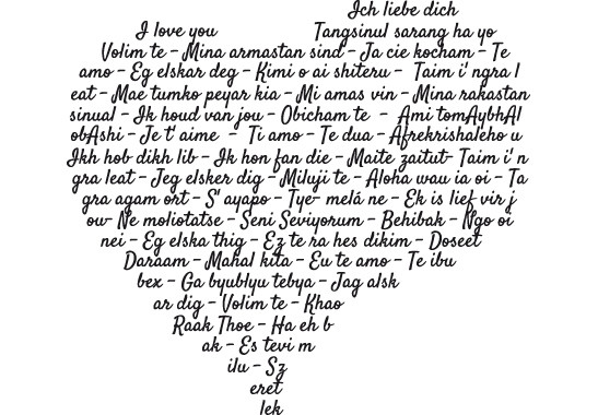 Glasdekor Die Sprache der Liebe - Bild 6