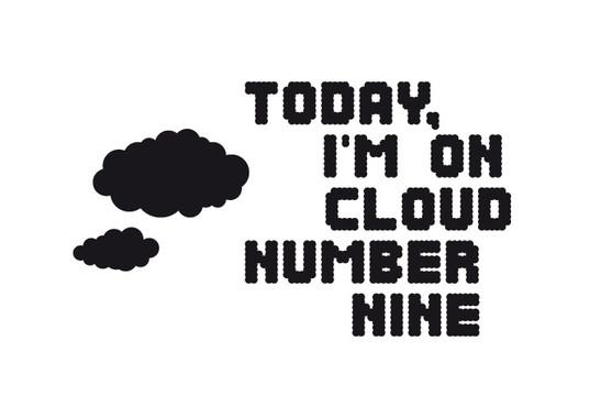 schwarz/weiss Ansicht - Wandtattoo Cloud nr.9