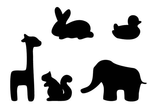 schwarz/weiss Ansicht - Wandtattoo Zoo