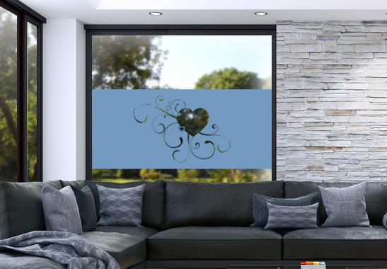 Glasdekor Erblühende Liebe