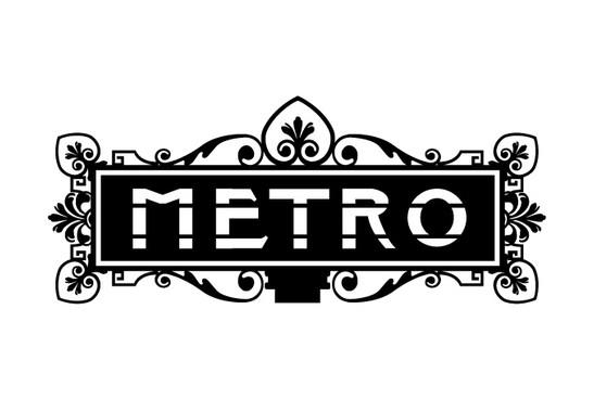 schwarz/weiss Ansicht - Wandtattoo Metro