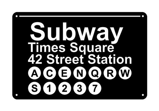 schwarz/weiss Ansicht - Wandtattoo Subway NY