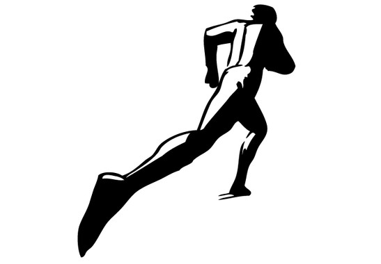 schwarz/weiss Ansicht - Wandtattoo Läufer