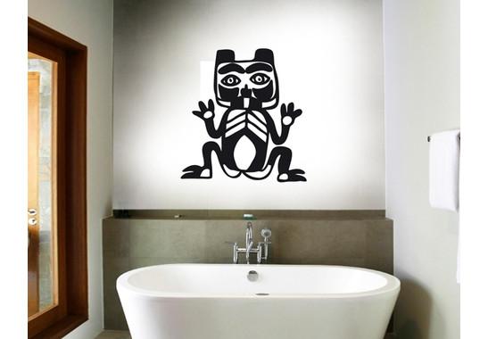 Wandtattoo Primitive Art Katze