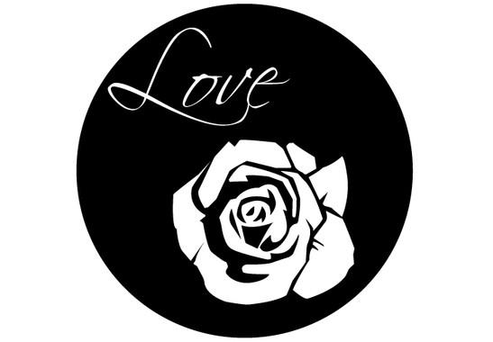 schwarz/weiss Ansicht - Wandtattoo Rose Love
