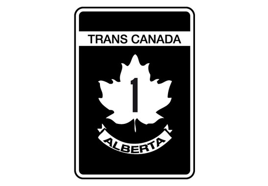 schwarz/weiss Ansicht - Wandtattoo trans canada