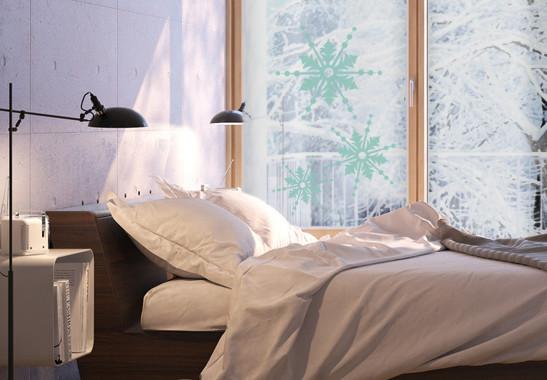 Glasdekor Drei Schneeflocken - Bild 5