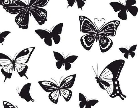 Glasdekor Schmetterlingsfamilie - Bild 7