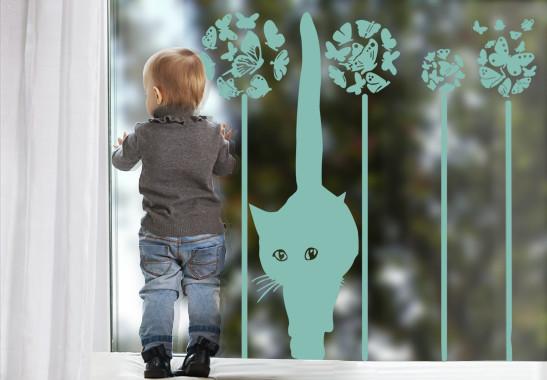 Glasdekor Sommerkatze - Bild 5