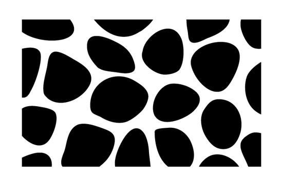schwarz/weiss Ansicht - Wandtattoo Stein Muster