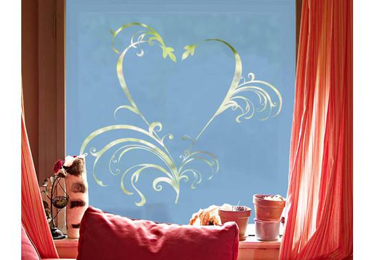 Folienfarbe in Wohnansicht: Offshore Blue - Sichtschutz Romeo & Julia II