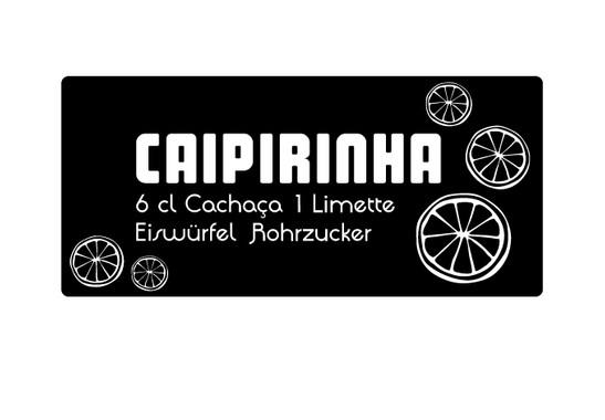 schwarz/weiss Ansicht - Wandtattoo Caipirinha