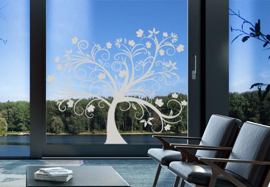 Glasdekor Herbstbaum - Bild 2