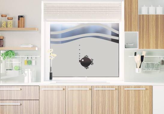 Glasdekor Rundes Fischlein - Bild 2