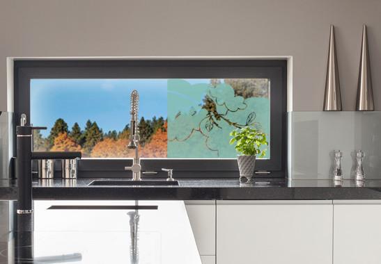 Glasdekor Amsel Zweig - Bild 5