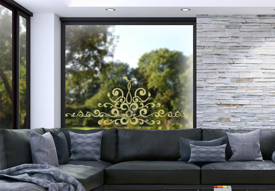 Glasdekor Barocke Verzierung - Bild 3