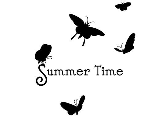 schwarz/weiss Ansicht - Wandtattoo Summer Time