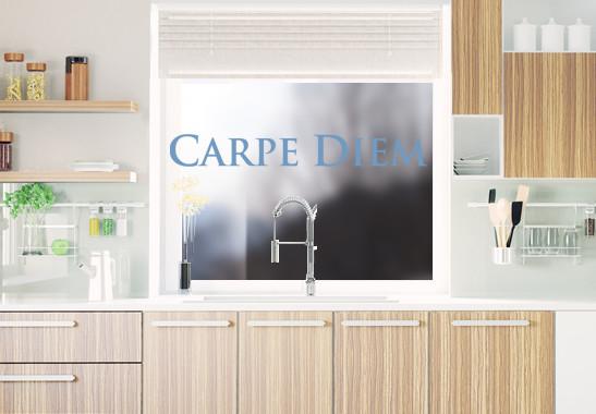 Glasdekor Carpe Diem