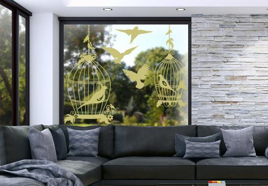 Glasdekor Vogel Voliere - Bild 3