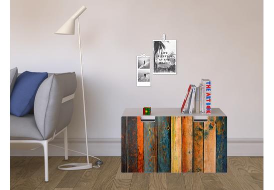 Möbelfolie Wooden für Stuva Banktruhe - Möbelfolie Wooden für Stuva Banktruhe