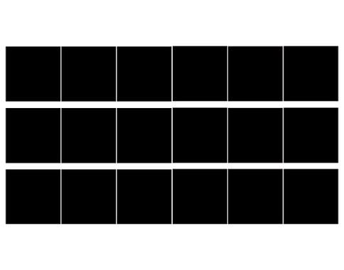 Ihr Bogen mit 18 Fliesenaufkleber - 6 zu jedem Farbton - Fliesenaufkleber Drei Wunschfarben 18er Set