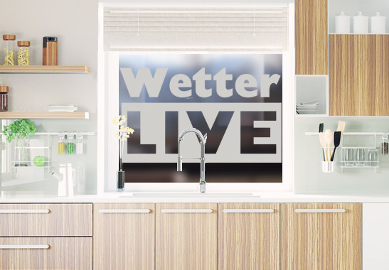 Glasdekor Livewetter - Bild 2