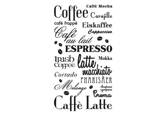 schwarz/weiss Ansicht - Wandtattoo Coffee & more