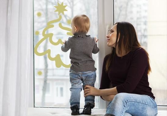 Glasdekor Weihnachtswinterbaum - Bild 3