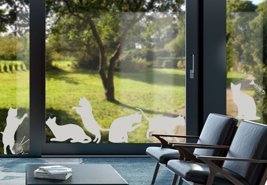 Glasdekor Katzenschwestern - Bild 2