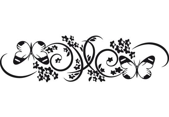 Glasdekor Schmetterlingspaar - Bild 6