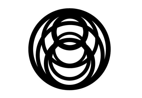 schwarz/weiss Ansicht - Wandtattoo Kreiszeichen