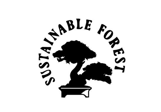 schwarz/weiss Ansicht - Wandtattoo Nachhaltiger Wald