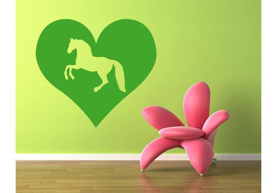 Wandtattoo Pferd Herz