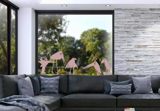 Glasdekor Rabenfamilie - Bild 4