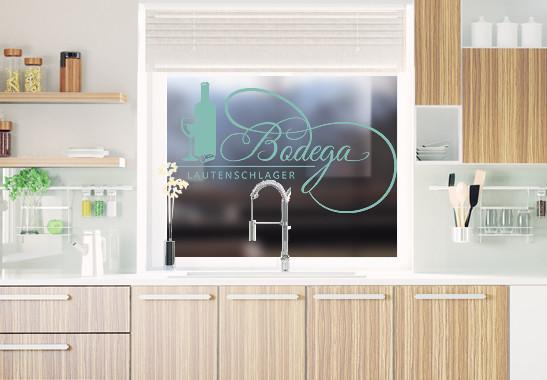 Glasdekor Wunschtext Bodega - Bild 5