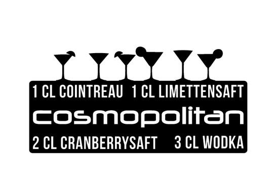 schwarz/weiss Ansicht - Wandtattoo Cosmopolitan