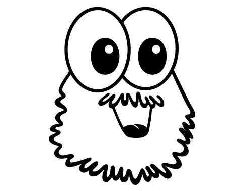 schwarz/weiss Ansicht - Wandtattoo Monster