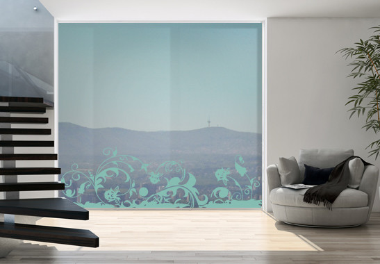 Glasdekor Wilder Garten - Bild 5
