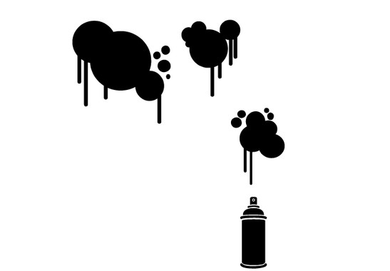 schwarz/weiss Ansicht - Wandtattoo Sprayers Dream