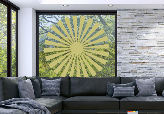 Glasdekor Sonnensymbol - Bild 3