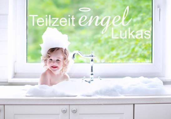 Glasdekor Wunschtext Teilzeit Engel - Bild 2