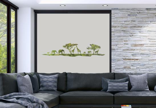 Sichtschutz Afrikanische Safari - Bild 2