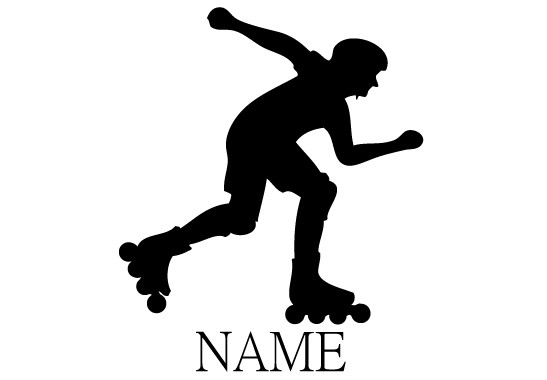 Glasdekor Wunschtext Inline Skater - Bild 6