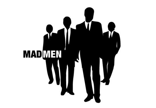 schwarz/weiss Ansicht - Wandtattoo Mad Men walking