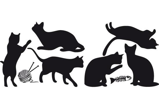 Glasdekor Katzenschwestern - Bild 6