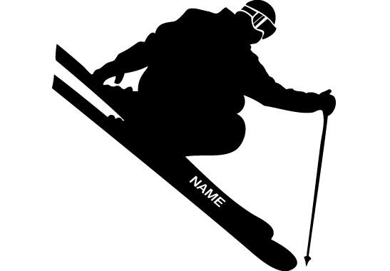 Glasdekor Wunschtext Skispringer - Bild 6